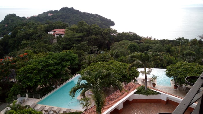 View from La Mariposa, the first hotel in Manuel Antonio.
