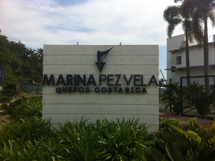 Sign in front of Marina Pez Vela.