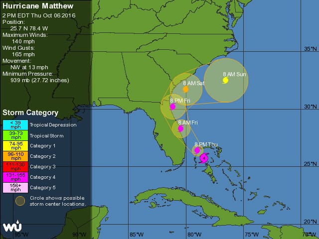 Hurricane Matthew, Oct. 6, 2016.
