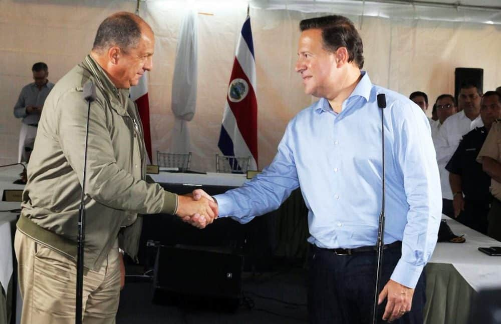 Luis Guillermo Solís and Juan Carlos Varela. Oct. 7, 2016.