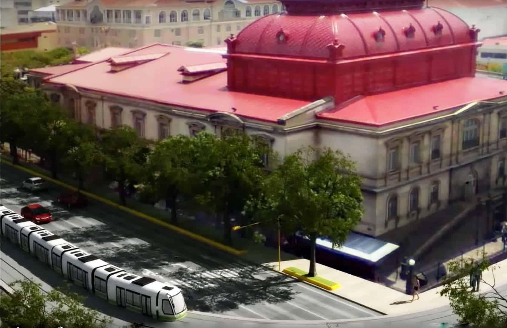 Project of a streetcar service for San José