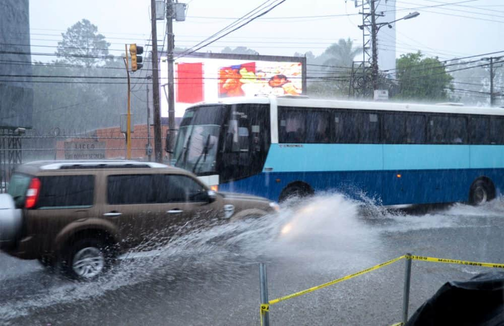 Heavy rains in San José