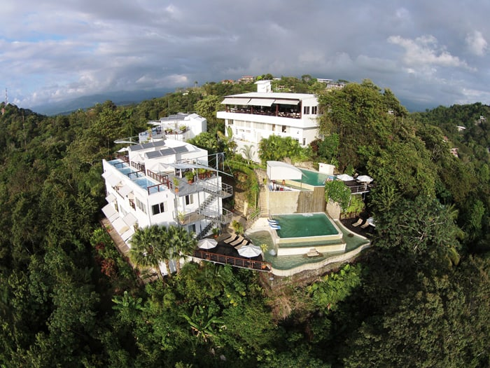 Bird's-eye view of Gaia Hotel and Reserve.