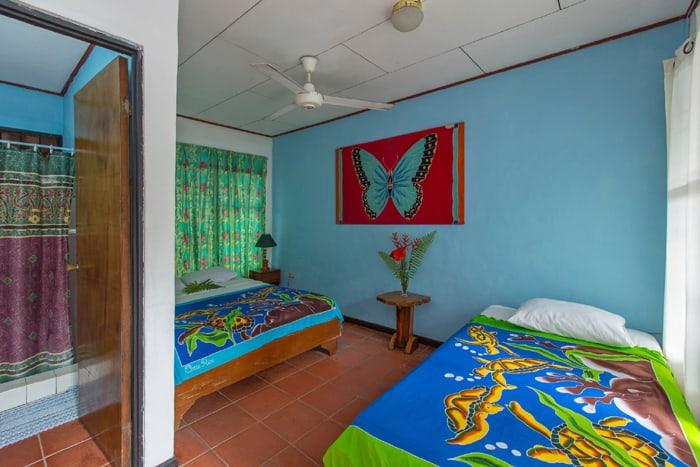 A colorful room at Hotel Mono Azul.