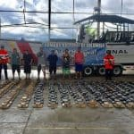 Five Costa Ricans caught with 600 kilos of cocaine off Colombian coast