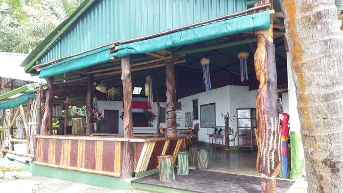 The La Leona bar and reception area.