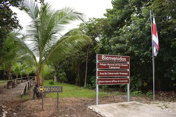 Entrance to Camaronal National Wildlife Refuge.
