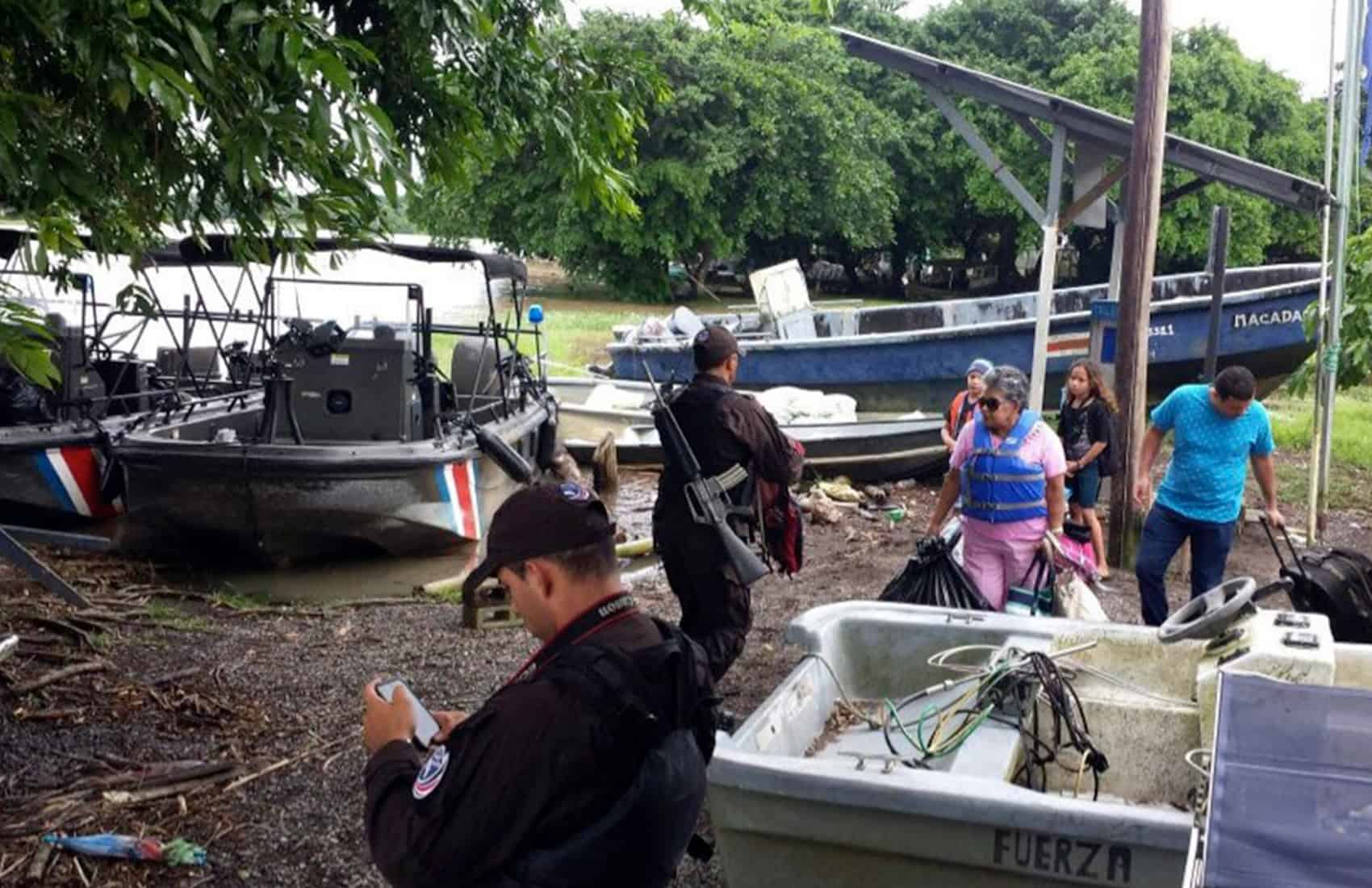 Evacuations in Costa Rica ahead of Hurricane Otto. Nov. 22, 2016.