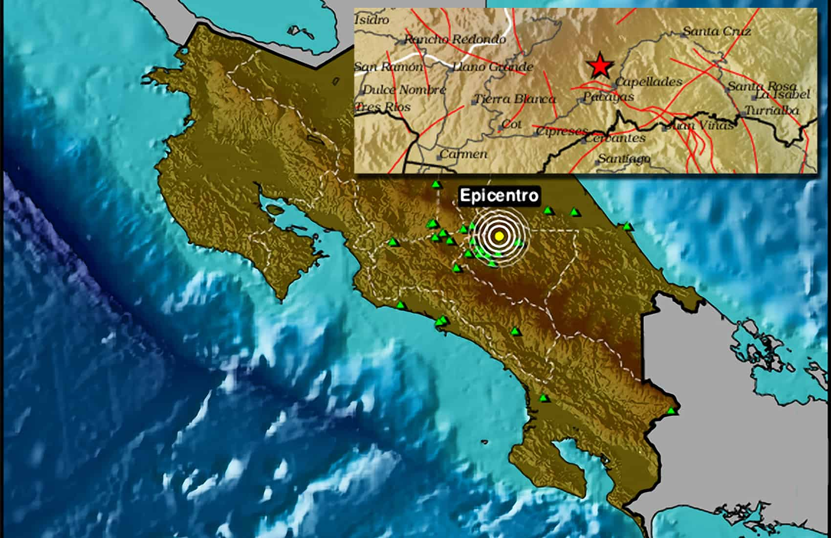 San Ramon Earthquake Map.Earthquake Jolts Five Provinces In Costa Rica The Tico Times
