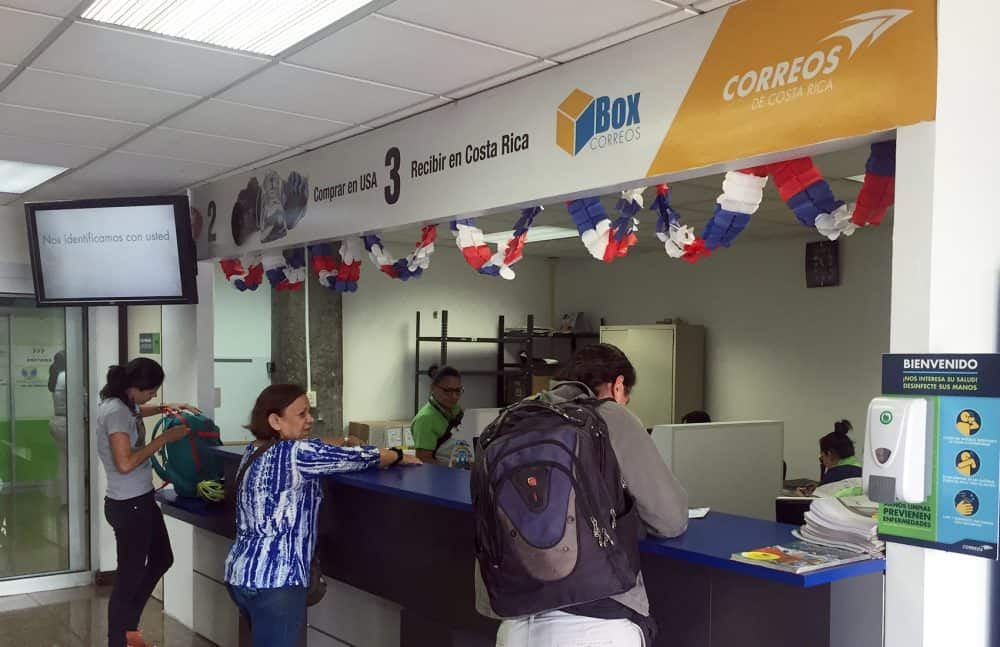 Residence applications at Correos de Costa Rica