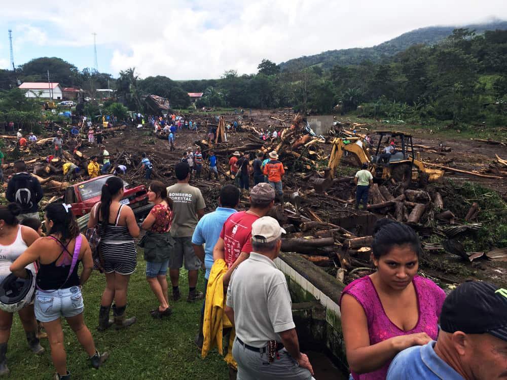 Damage by Hurricane Otto at Bijagua. Nov. 30, 2016