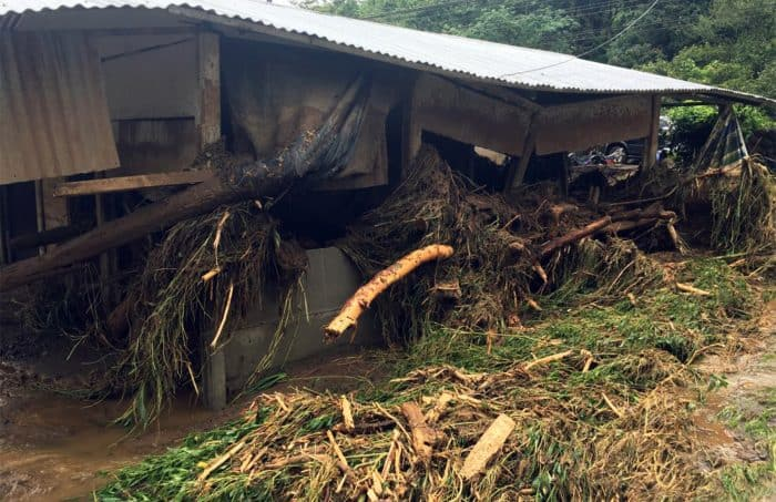 Damage by Hurricane Otto in Bijagua, Alajuela. Nov. 30, 2016.