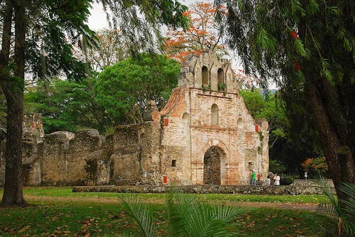 The ruins of the Ujarrás church, Costa Rica's oldest, originally built between 1575 and 1580, then rebuilt between 1681 and 1693.