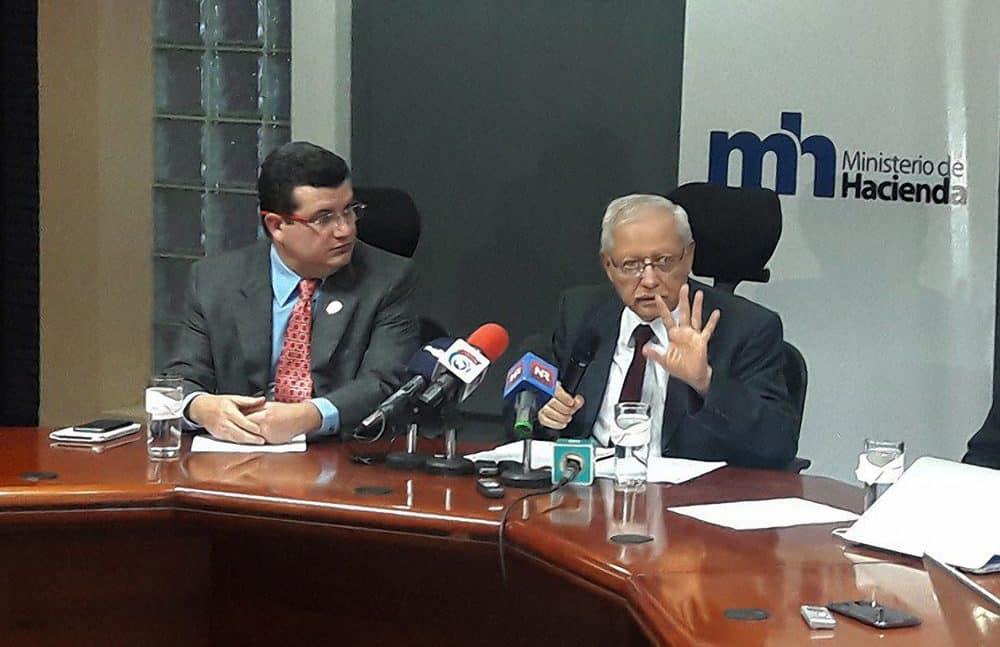 Presidency Minister Sergio Alfaro. Vice President Helio Fallas. Jan. 26, 2017.