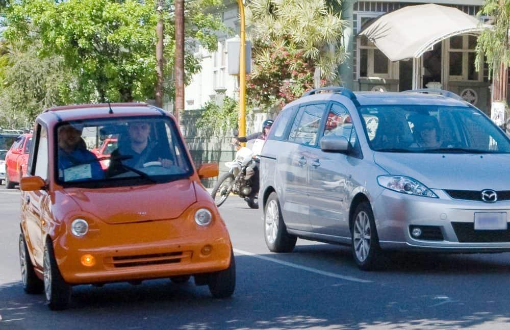 Electric car in San José