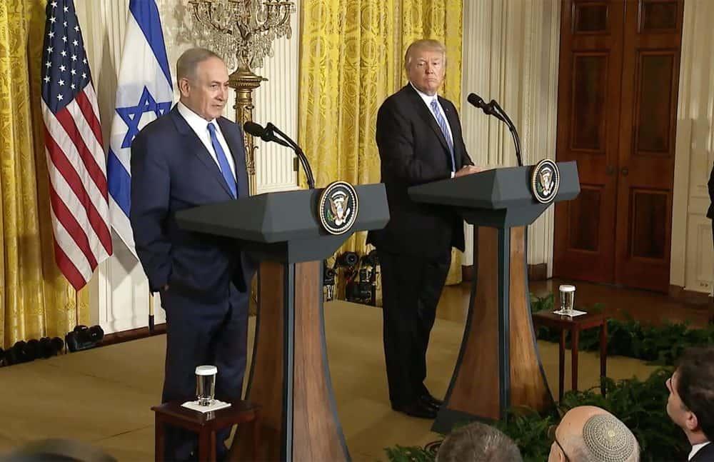 Israeli Prime Minister Benjamin Netanyahu, US President Donald Trump. Feb. 15, 2017.