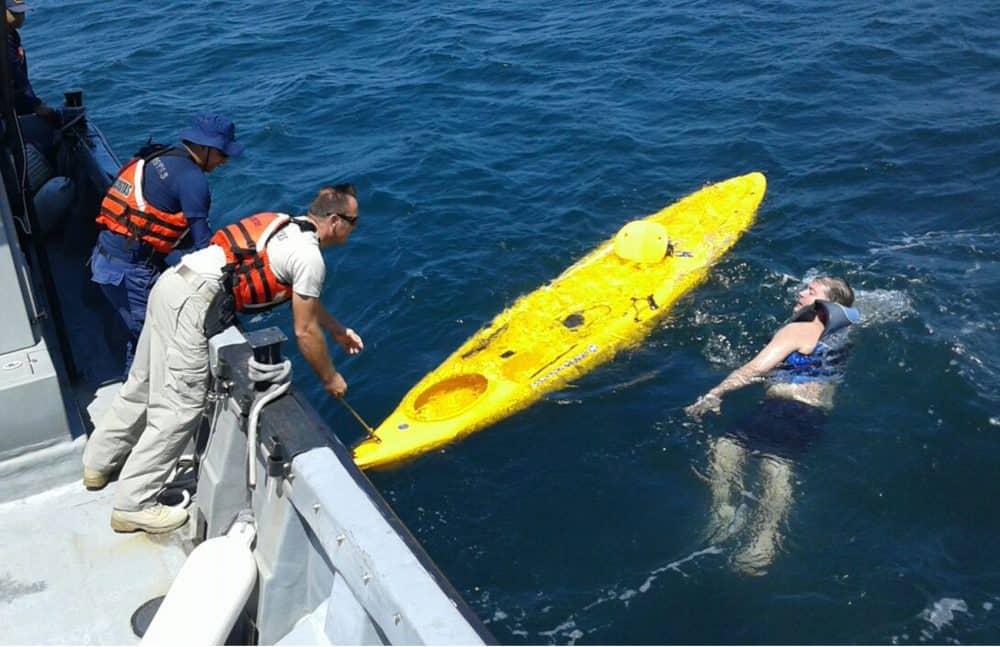 Kayaker rescue at Playa Conchal. Feb. 28, 2017