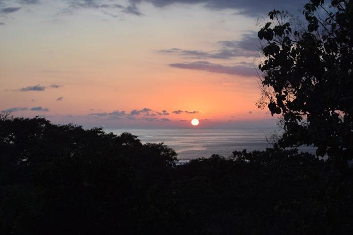 Sunset at Casa Harmony.