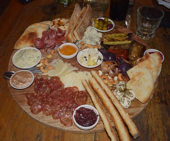 The antipasto platter at La Luna.