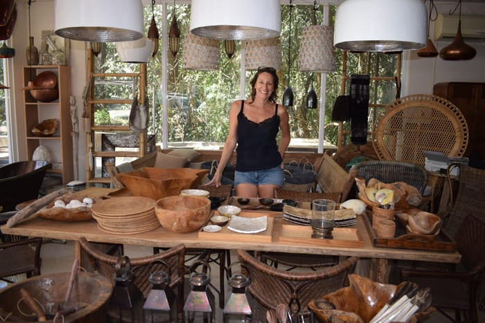 Pauline Steenkamer of Nosara Design inside her shop.