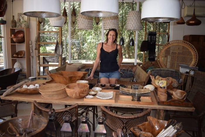 Pauline Steenkamer of Nosara Design inside her shop.