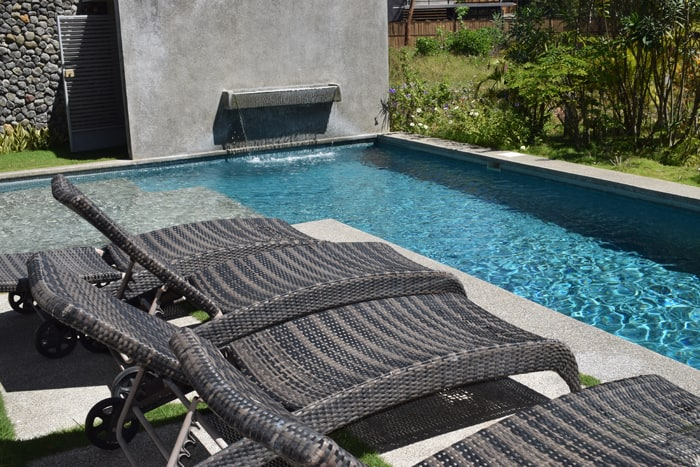 The pool at a home for sale represented by Surfing Nosara.