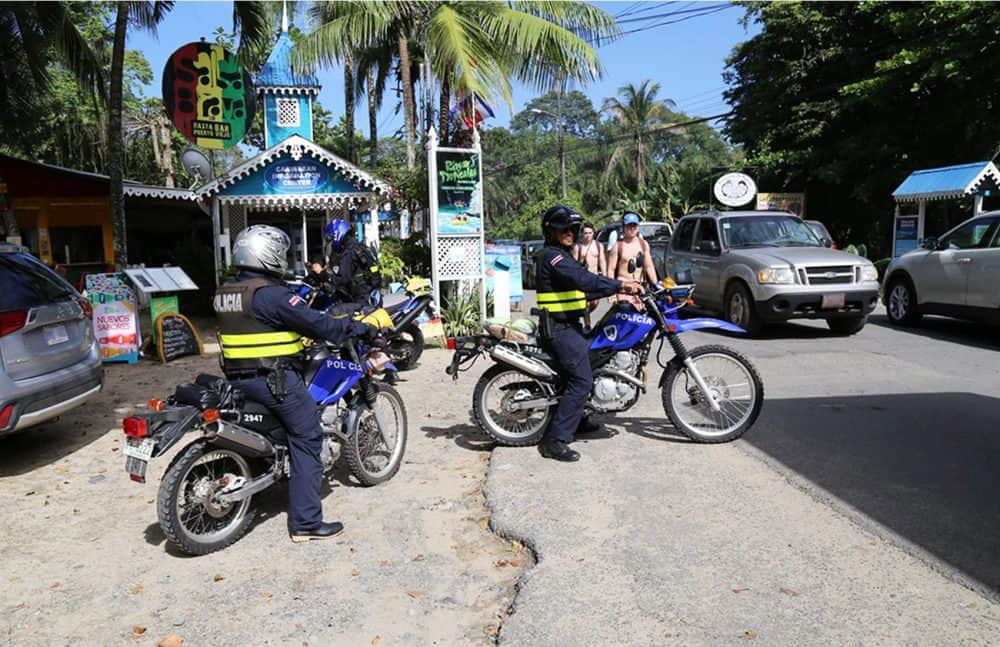 Police surveillance at Cahuita. March 13, 2017.