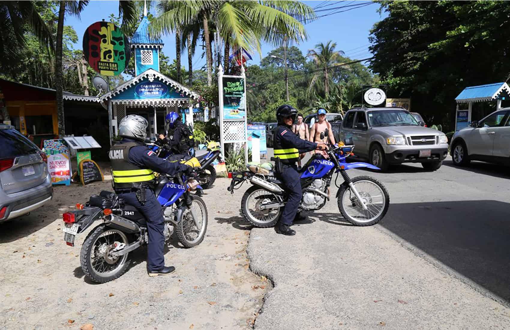 Police surveillance at Cahuita. March 13, 2017.