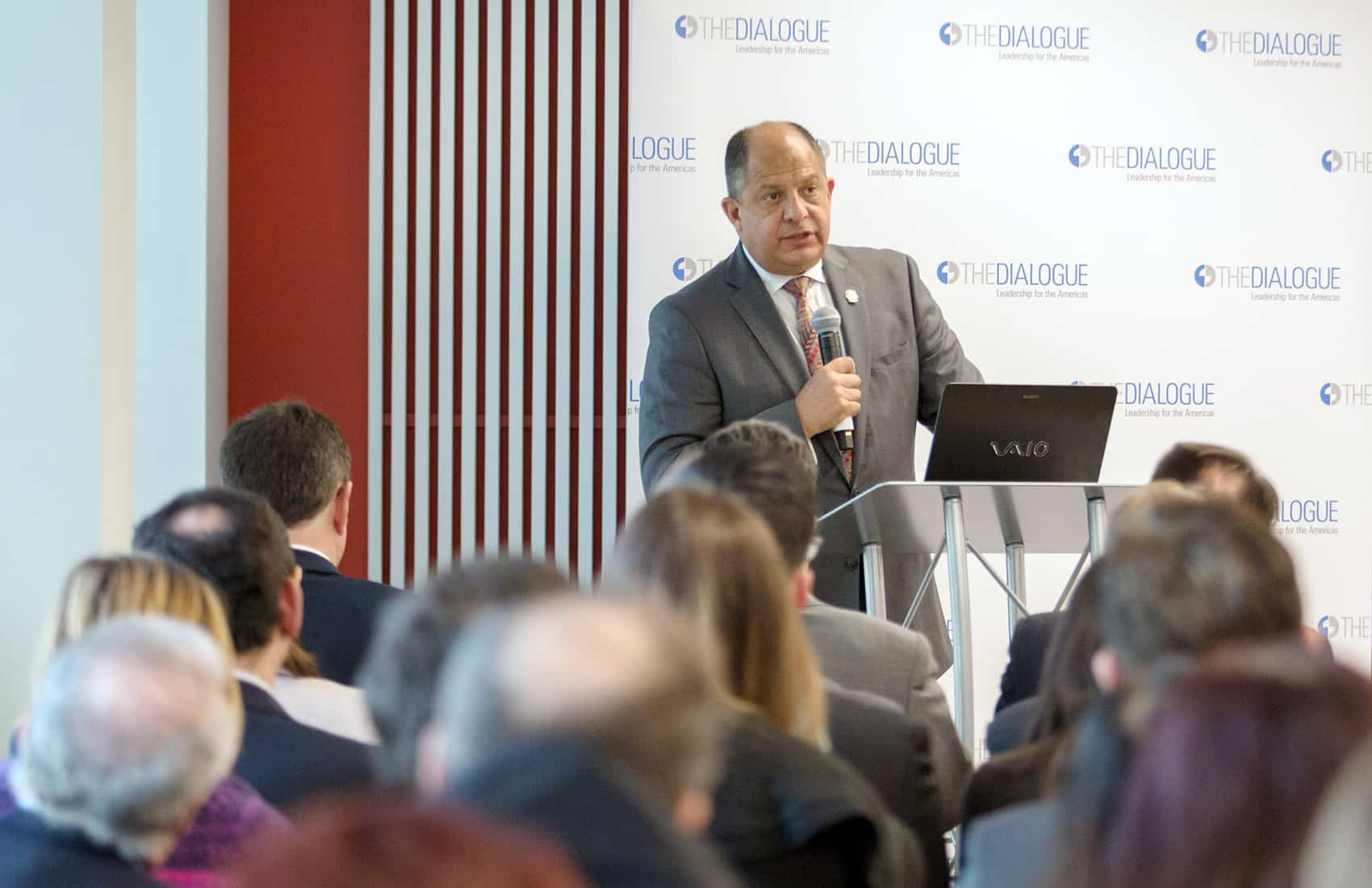 President Luis Guillermo Solís at The Dialogue, Washington. March 16, 2017.