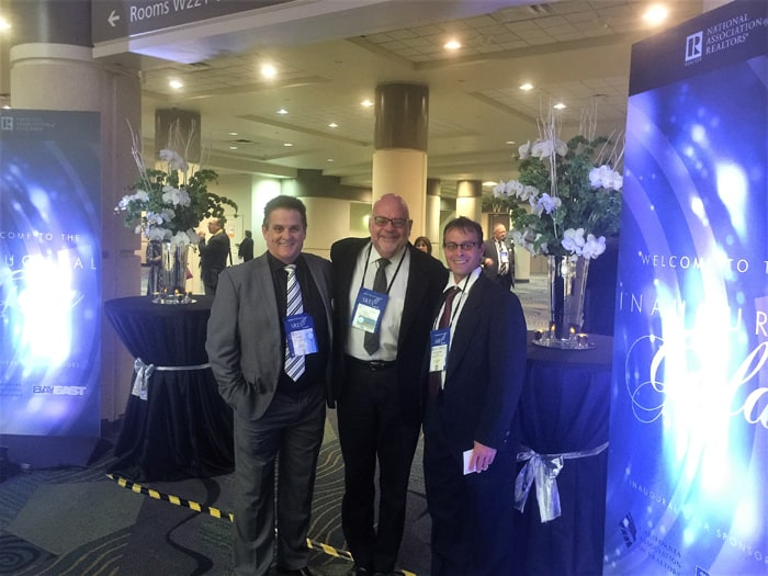 CRGAR board members, left to right, Robert Arcand, Allen Lungo and Larry Graziano at NAR National Convention in Orlando in November.