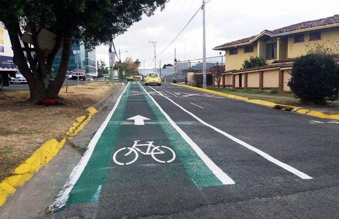 Bike path in San Pedro. March 2017.