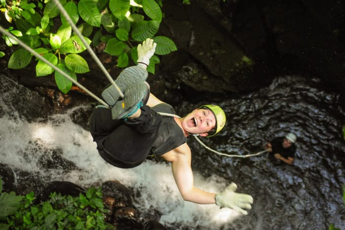 Canyoning at Spider Monkey Canyon.