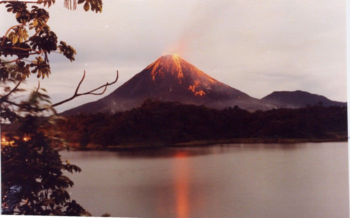 View from Laguna Arenal in 1991.