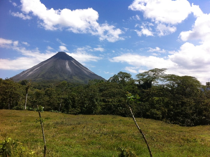 Arenal Volcano on a clear day, snapped from the highway.