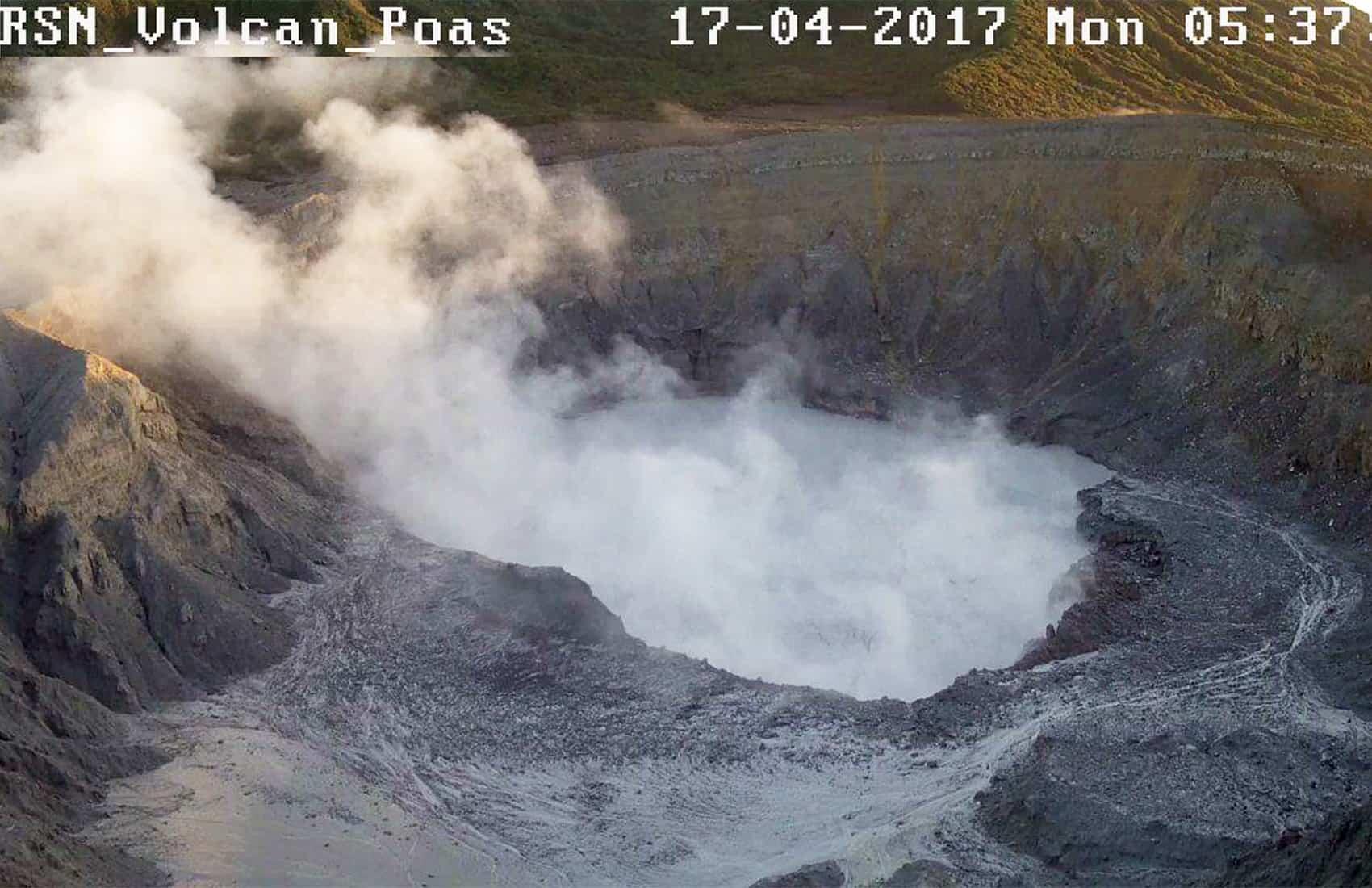 Poás Volcano. April 17, 2017.