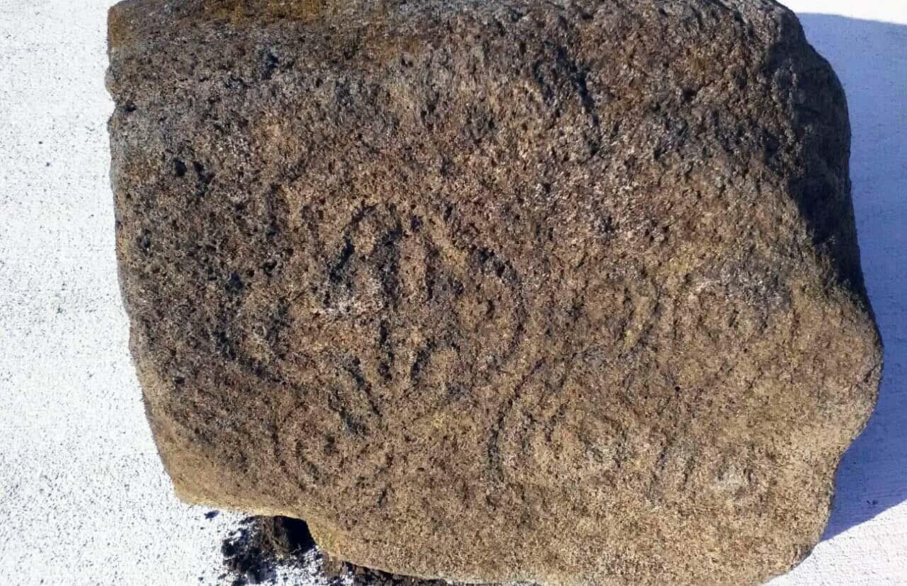 Petroglyph found at Las Pailas, Guanacaste. Apr. 27, 2017.