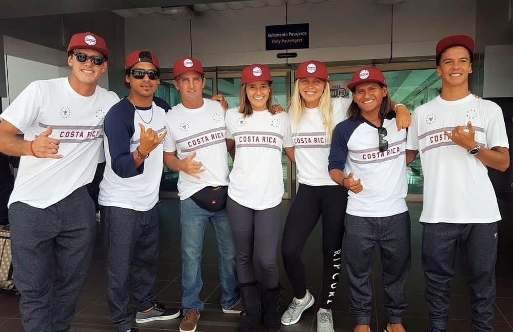 Costa Rica's national surf team 2017