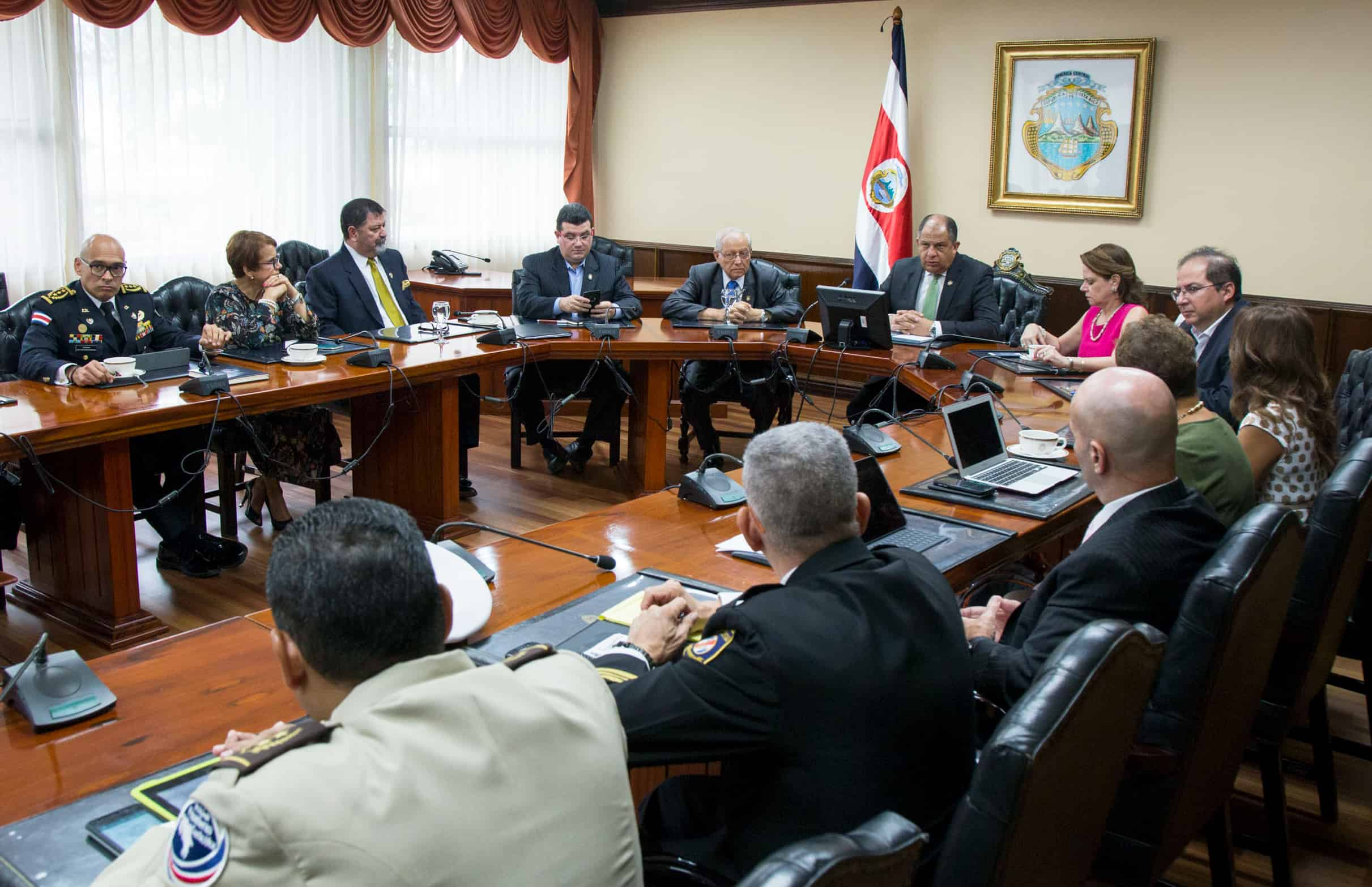 Public Security meeting at Casa Presidencial. May 17, 2017.