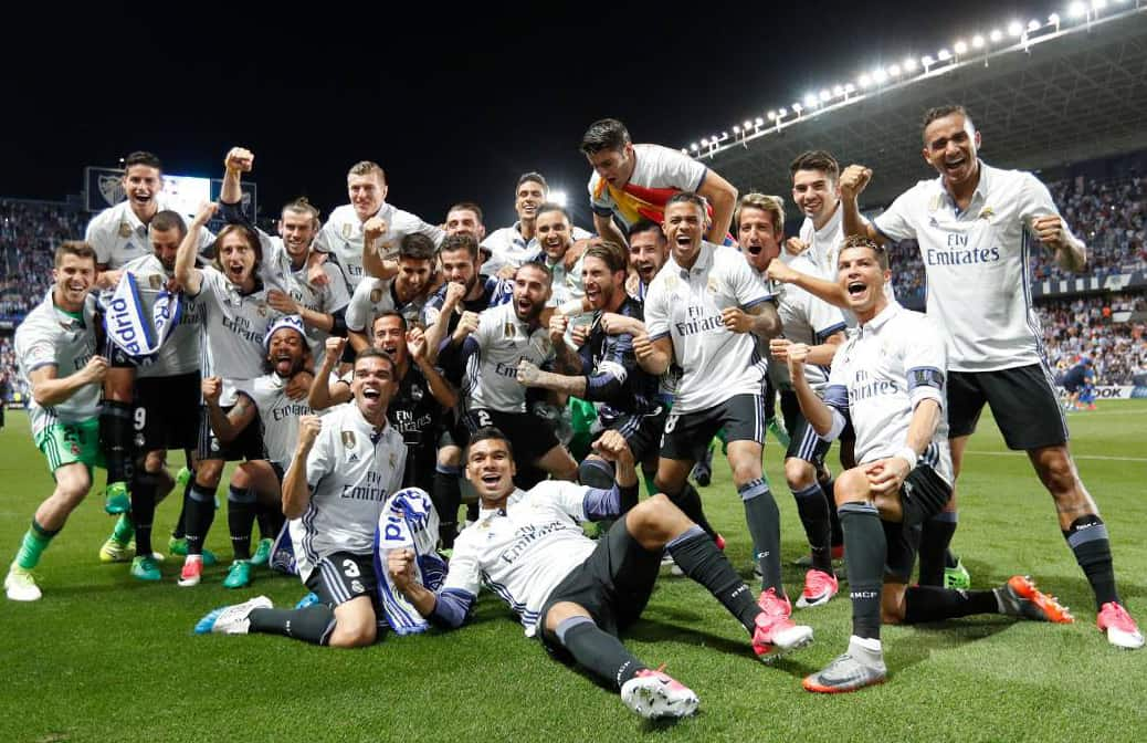 Keylor Navas takes Spain's La Liga. May 21, 2017.