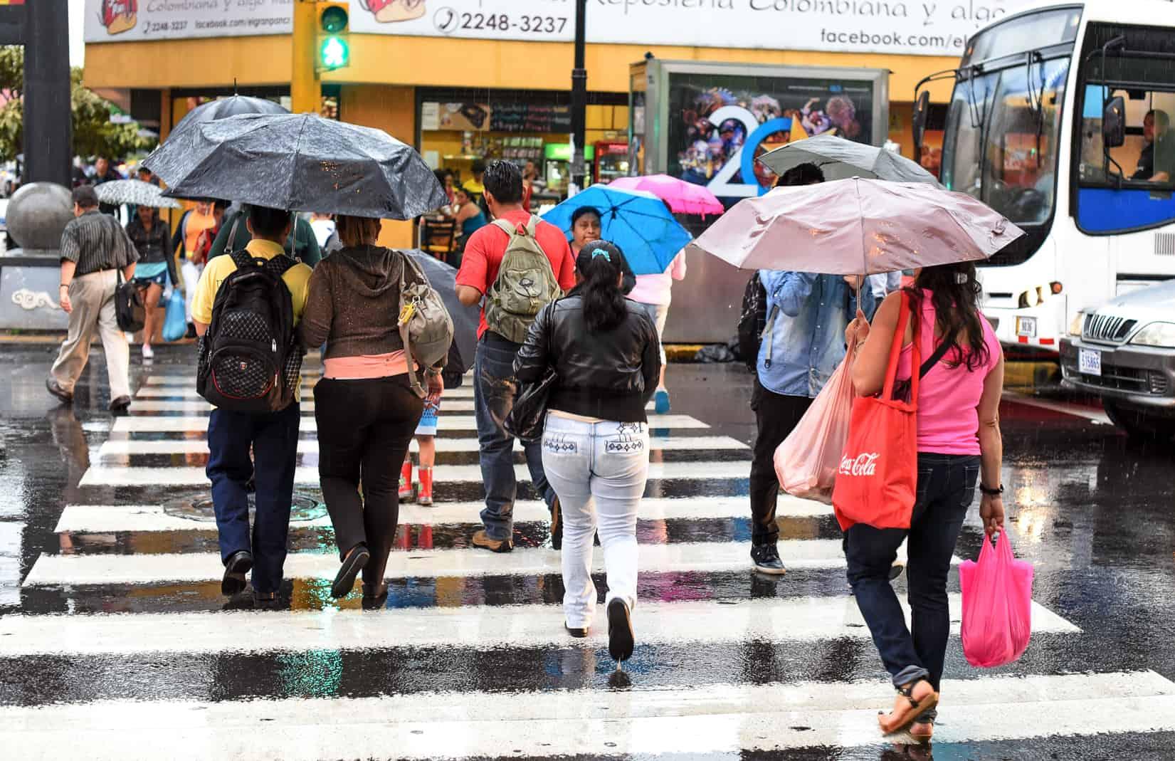 Rains, rainy season in Costa Rica.
