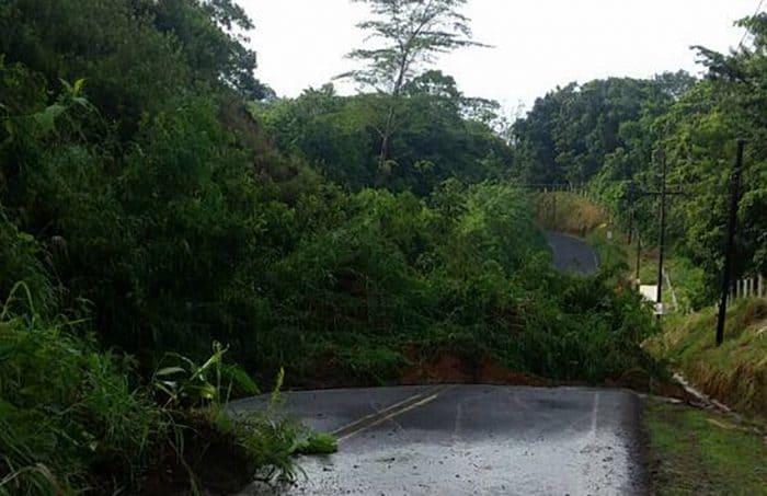 Landslides at Tilarán, Guanacaste. May 25, 2017