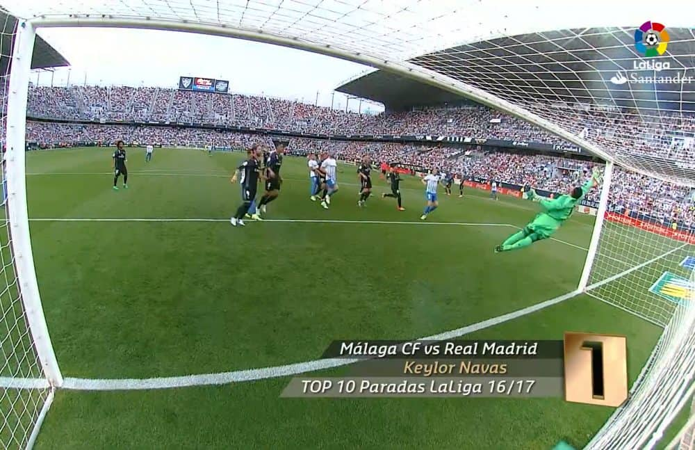 Keylor Navas' Save of the Season 16/17. June 26, 2017.