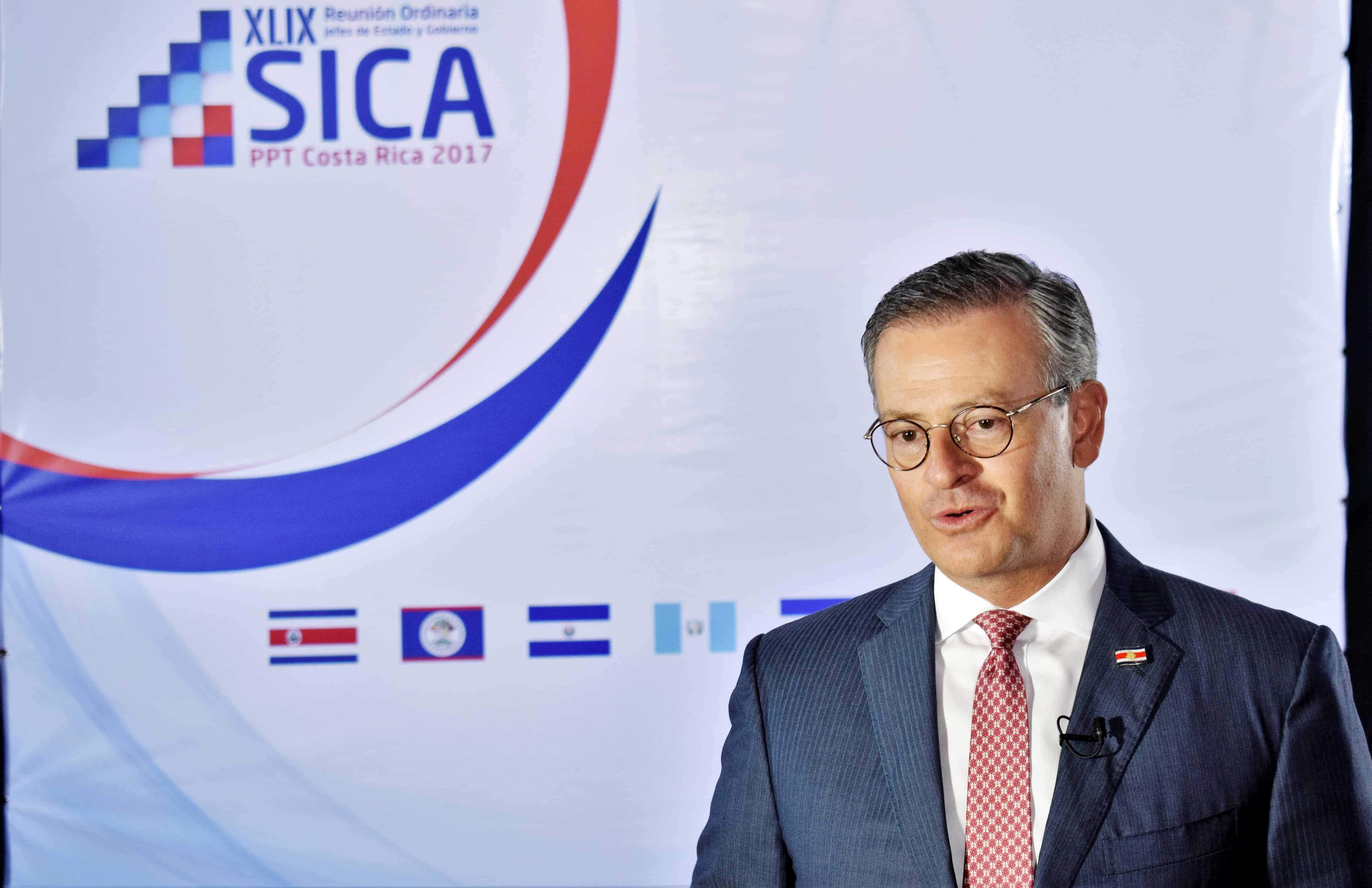 Costa Rica's Foreign Minister Manuel González Sánz, border dispute