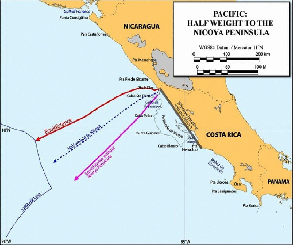 Nicaragua's proposed maritime limits