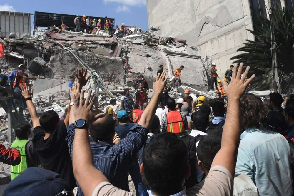 The search for survivors of the Mexico City earthquake, Sept. 19, 2017