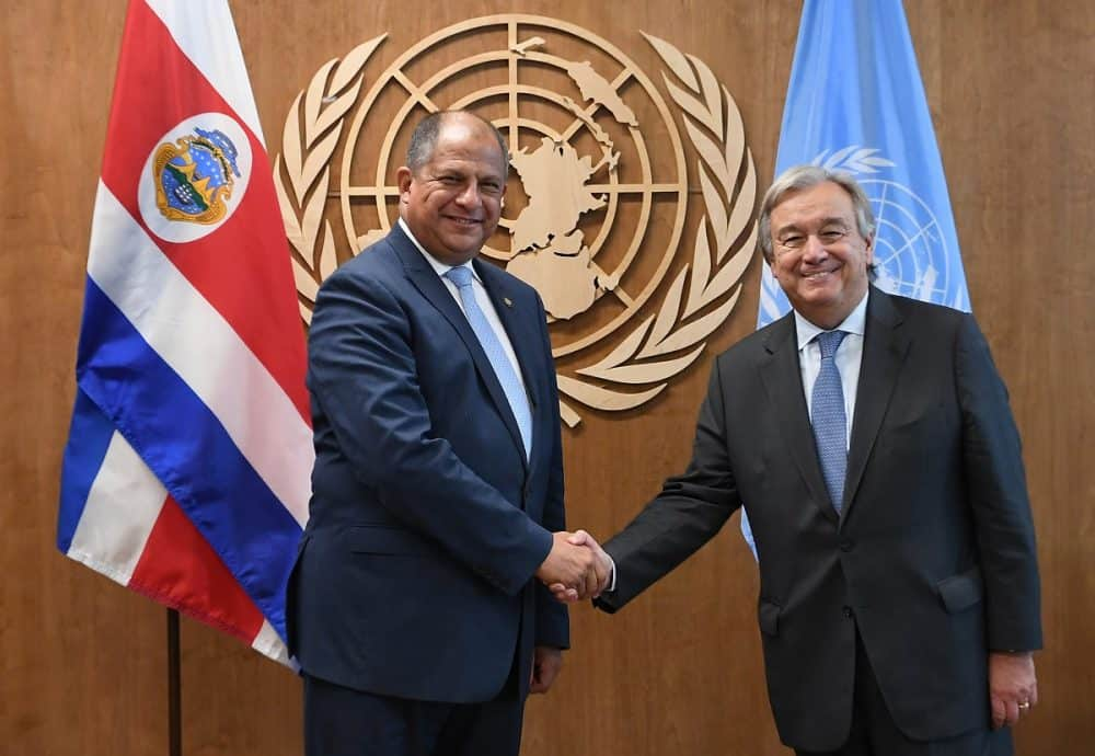 Costa Rican President Luis Guillermo Solís at the United Nations