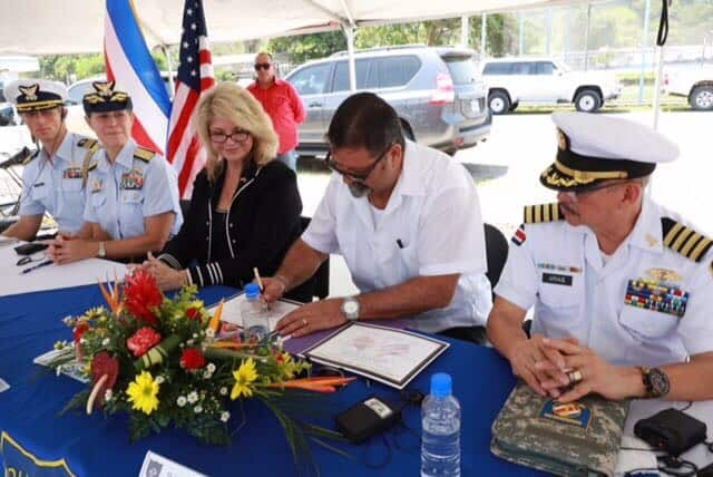 New U S Ambador To Costa Rica Sharon Day And Public Security Minister Gustavo Mata Visited The Port Of Caldera On Central Pacific Coast Friday