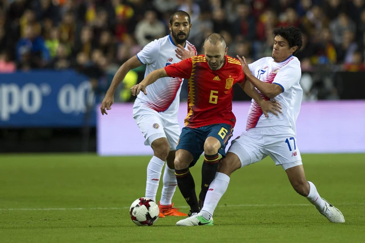 Spain defeated Costa Rica in a World Cup friendly soccer match on Nov. 11, 2017.