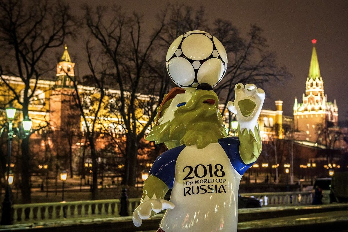 World Cup 2018 Russia mascot ahead of the World Cup Draw on Dec. 1