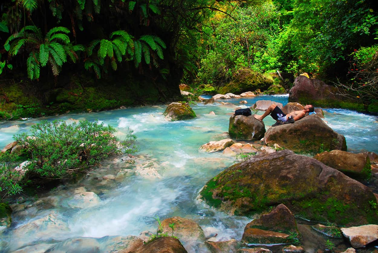 A blissful day at Costa Rica's Río Celeste.
